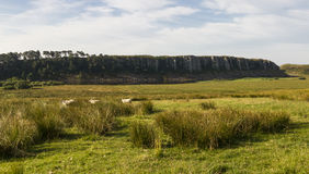 Lago de Cragg en Roman Wall Northumberland, Inglaterra Fotos de archivo