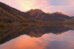 Lago de cristal autumn Fotografia de Stock