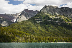 Lago de cruzamento Waterton Imagem de Stock Royalty Free