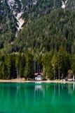 Lago de Dobbiaco fotografia de stock