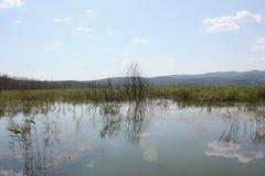 Lago de Doirani Kilkis Grécia imagens de stock