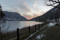 Lago de Endine Foto de Stock Royalty Free