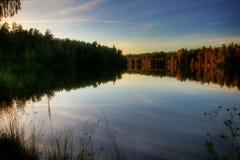 Lago de finales del verano Fotos de archivo libres de regalías
