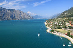 Lago de Garda imagens de stock