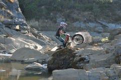 Lago de la bici de los ensayos Fotografía de archivo