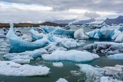 Lago de la laguna del hielo en Islandia Fotos de archivo libres de regalías