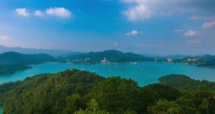 Lago de la luna de Sun, Nantou, Taiwán metrajes