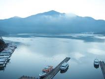 Lago de la luna de Sun en Taiwán En diciembre de 2018 fotografía de archivo