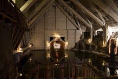 Lago de la mina de sal Imagenes de archivo