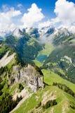 Lago de la montaña de Suiza Fotos de archivo libres de regalías