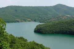 Lago de la presa de Ivaylovgrad, Bulgaria Fotografía de archivo libre de regalías