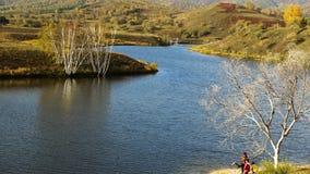 Lago de la presa del sapo Imagen de archivo