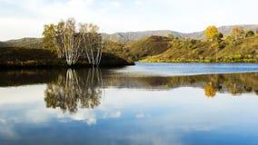 Lago de la presa del sapo Foto de archivo libre de regalías