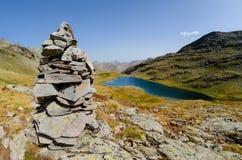 Lago de Lauzanier Imágenes de archivo libres de regalías