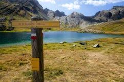 Lago de Lauzanier Fotos de archivo libres de regalías