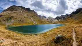Lago de Lauzanier Fotografía de archivo