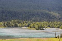 Lago de los kanas de China Xinjiang imagen de archivo