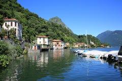 Lago de Lugano en Italia Fotografía de archivo libre de regalías