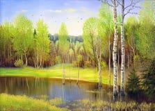 Lago de madera fotos de archivo