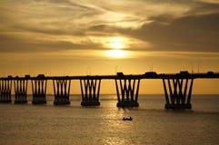 Lago De Maracaïbo d'EL de sobre de Puente Images stock