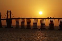 Lago De Maracaïbo d'EL de sobre de Puente Image stock