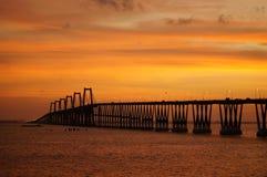 Lago De Maracaïbo d'EL de sobre de Puente Photos libres de droits