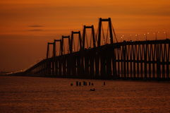 Lago De Maracaïbo d'EL de sobre de Puente Images libres de droits