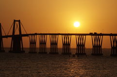 Lago de Maracaibo del EL del sobre de Puente Imagen de archivo