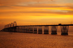 Lago de Maracaibo do EL do sobre de Puente Fotografia de Stock