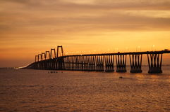 Lago de Maracaibo do EL do sobre de Puente Imagens de Stock
