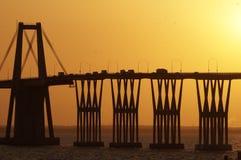 Lago de Maracaibo för Puente sobreel Fotografering för Bildbyråer