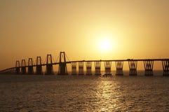 Lago de Maracaibo för Puente sobreel Royaltyfria Bilder