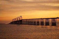 Lago de Maracaibo för Puente sobreel Arkivbilder