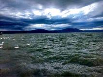 lake of atitlan stock photos