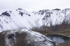 LAGO DE NIEVE NEVADO BLANCO photo stock
