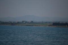 Lago de sal de Larnaca Foto de Stock