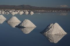 Lago de sal de Uyuni Bolivia fotos de archivo libres de regalías