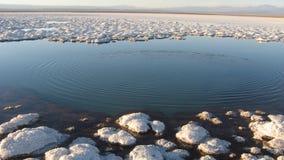 Lago de sal do deserto de Atacama, Chil Imagens de Stock Royalty Free