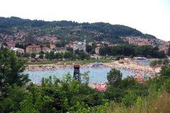 Lago de sal de Tuzla imagem de stock