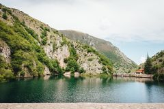 Lago de San Domenico, Abruzzo, Itália fotografia de stock