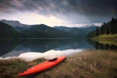 Lago de Sauris Italia Imágenes de archivo libres de regalías