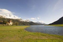 Lago de Silvaplana Imagem de Stock Royalty Free