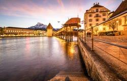 Lago de Suíça de Luzern Imagens de Stock