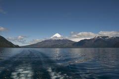 Lago de Todos los Santos with snowy Volcano Stock Photos