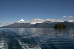 Lago de Todos los Santos with snowy Volcano Royalty Free Stock Photography