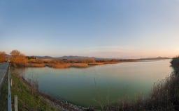 Lago de Toscana Fotos de archivo