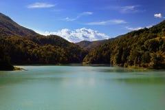 Lago de Verzegnis Italia Imagen de archivo