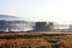 Lago dei cervi della nebbia Fotografia Stock Libera da Diritti