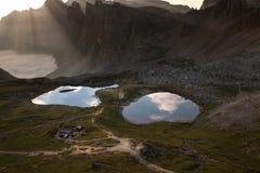 Lago dei Piani at sunny morning Royalty Free Stock Photo