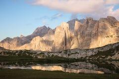 Lago dei Piani at sunset Royalty Free Stock Image